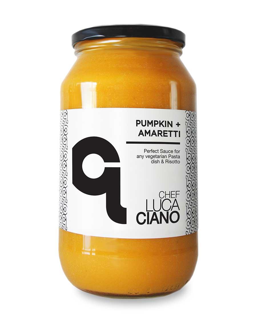 Chef Luca Ciano Pumpkin Amaretti Pasta Sauce Jar